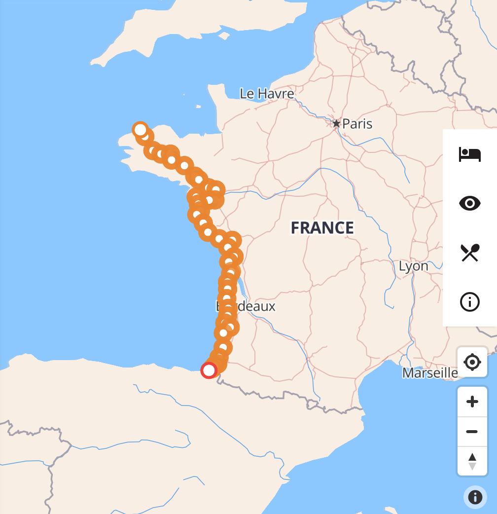 La Vélodyssée rutas ciclistas y vías verdes de Francia
