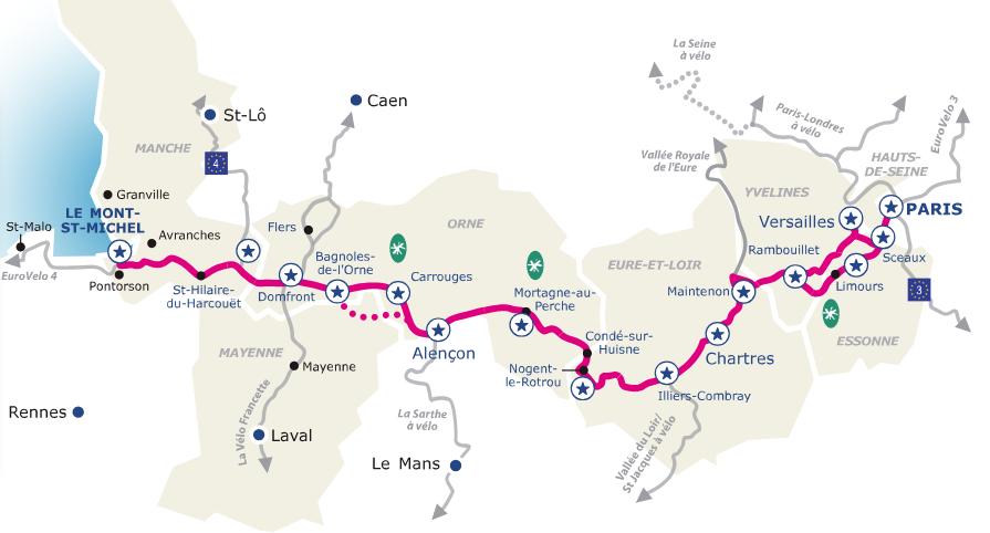 rutas ciclistas y vías verdes de Francia