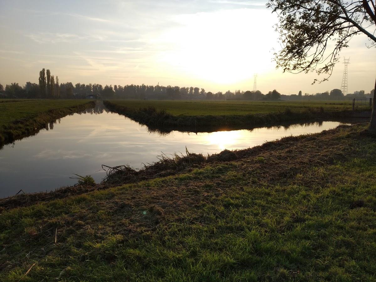 De camino a Kinderdijk