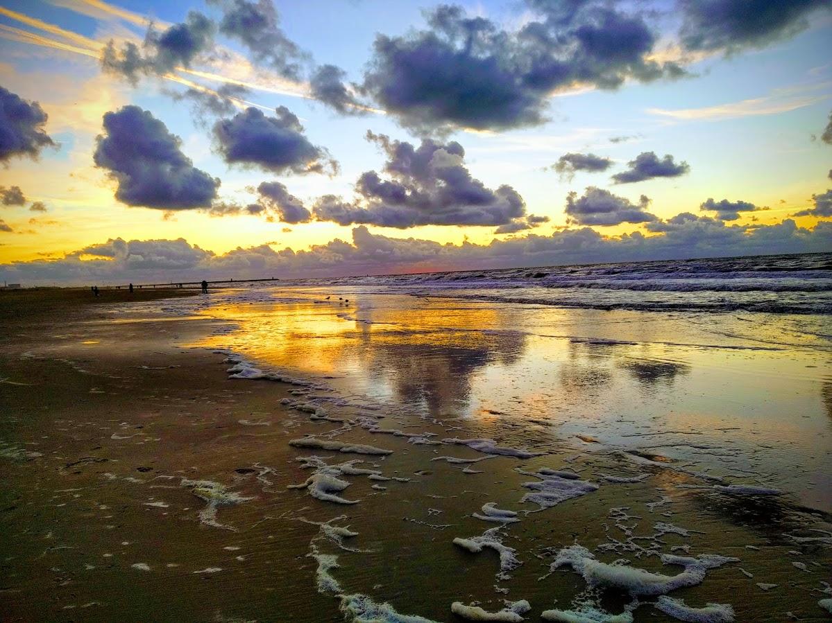 Atardecer en la playa de Scheveningen