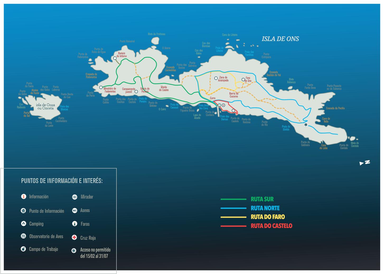 Rutas de senderismo en la Isla de Ons